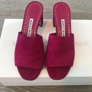 Manolo Blahnik Rapallato Slide Sandal